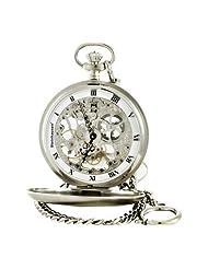Steinhausen PG200S Tasche Mechanical Silver Pocket Watch