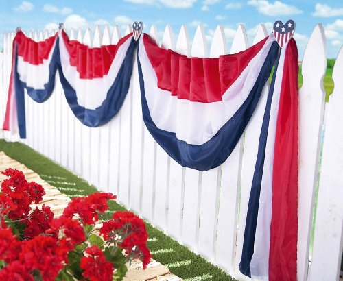 American Hearts Fence Bunting Patriotic Decoration By Collections Etc