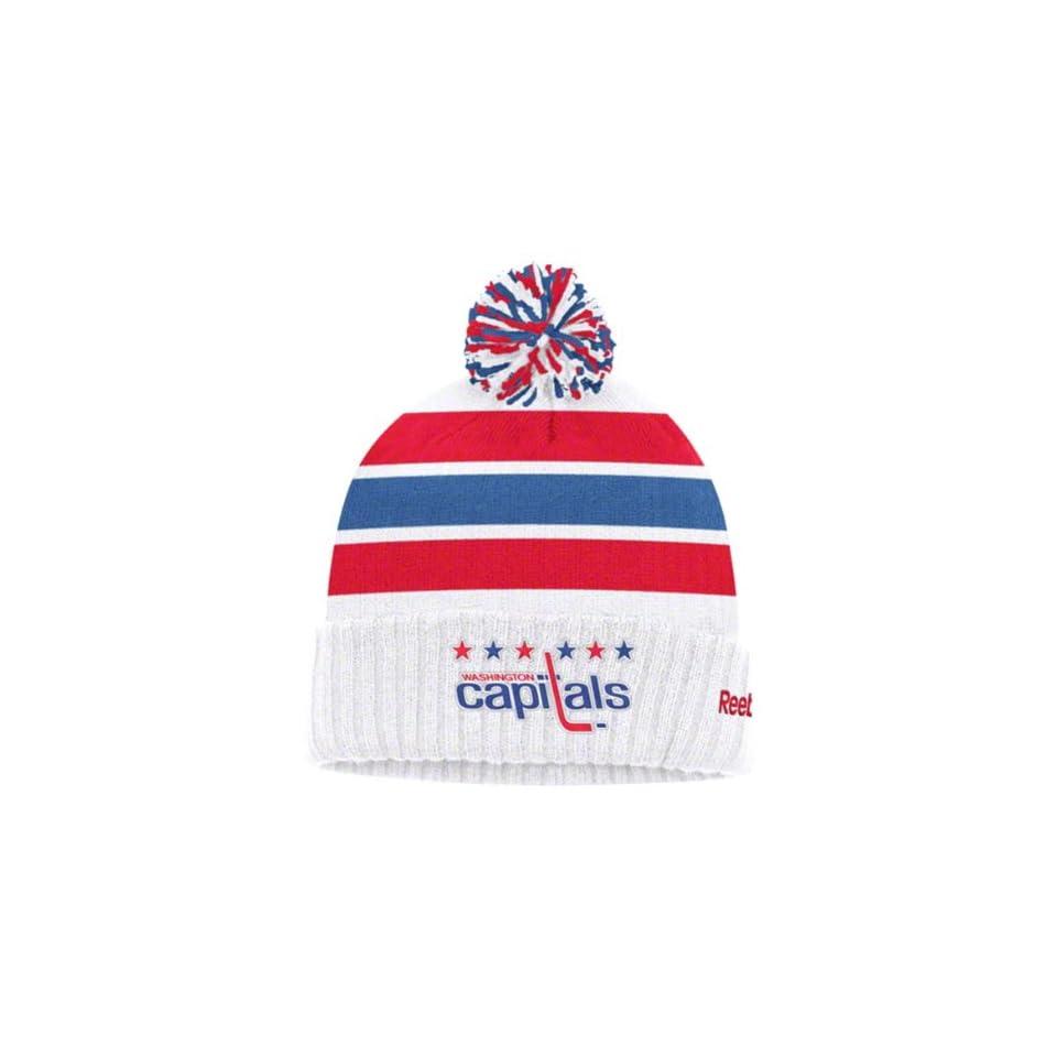 b7cc6d65cc5167 WASHINGTON CAPITALS NHL Winter Classic GOALIE Cuffed W/Pom Knit Hat/Cap  BEANIE By