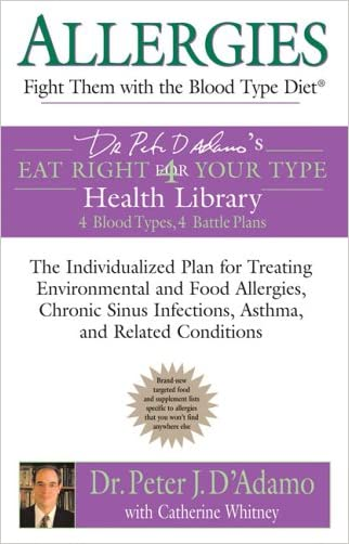 Allergies: Fight them with the Blood Type Diet: The Individualized Plan for Treating Environmental and Food Allergies, Chronic Sinus Infections, ... Eat Right 4 Your Type Health Library) written by Dr. Peter J. D%27Adamo
