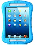 iXCC ® Shockproof Silicone Case Cover for All Apple iPad Mini Models, Extreme Heavy Duty [Drop Proof, Kids Proof, Shock Proof, Anti slip] High Quality Rubber Soft Gel Material Offers Robust Protection for Kids, Baby, Children, Boys and Girls [Blue]