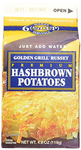 Golden Grill Russet Hashbrown Potatoes Net Wt 4.2 Ounce (119g) (16 Count Pack) (Hashbrowns Dehydrated compare prices)