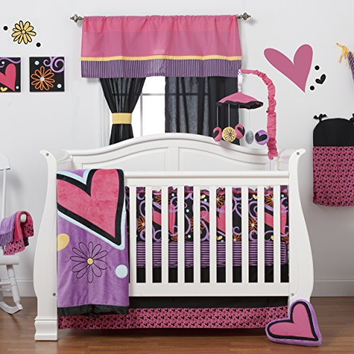 One Grace Place Sassy Shaylee Growth Chart Decal, Black, Pink, and Purple