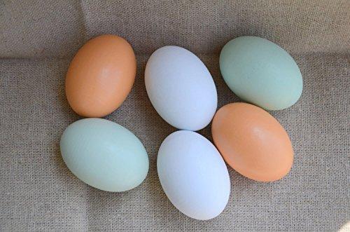 MasterPro Wooden Fake Eggs-6 pieces (Decorative Chicken Eggs compare prices)
