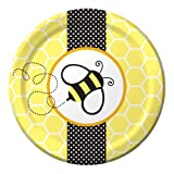 Creative Converting Baby Shower Buzz 8 Count Paper Lunch Plates
