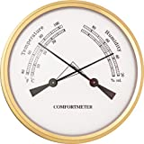 "3-1/2"" ComfortMeter Thermometer and Hygrometer Clock Insert"