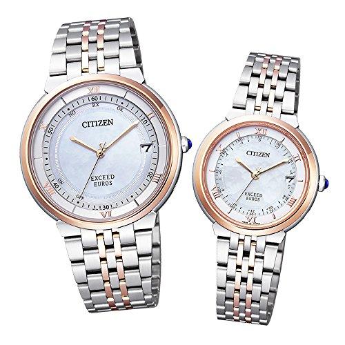 【セット】 CITIZEN(シチズン) 【腕時計】 CB3024-52W メンズ・ES1054-58W レディース EXCEED[エクシード]