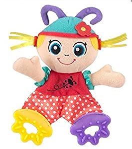 Cute Girls Baby Toys Learning & Education Soft Toy with Teether and Ring Paper suit for 0-12 Months