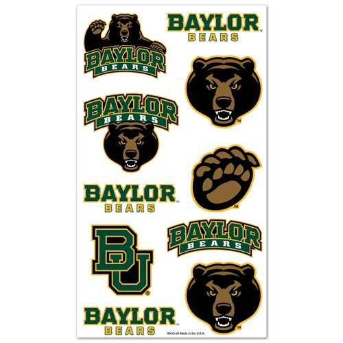 Baylor Bears Temporary Tattoos - 1