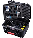 """Smatree® SmaCase GA700-4 (11.02"""" x 9.68"""" x 6.14"""") with ABS materials Floaty & Watertight Carrying and Travel Case with Foam for Gopro HD Hero4, 3+, 3, 2, 1 Camera camcorder and Essential Accessories (Fits for 4 Cameras)"""