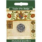 Tudor Rose Pewter Pin Badge