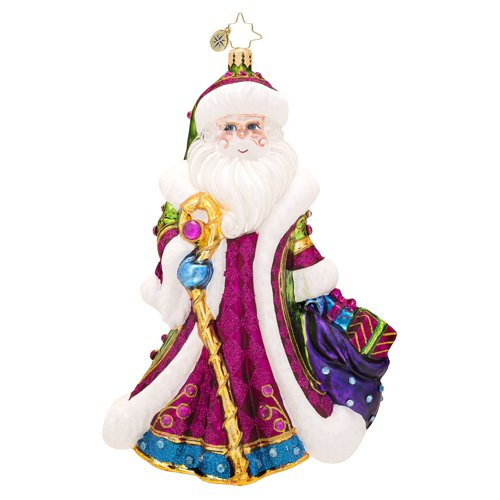 Christopher Radko Winter Sparkle Santa Ornament