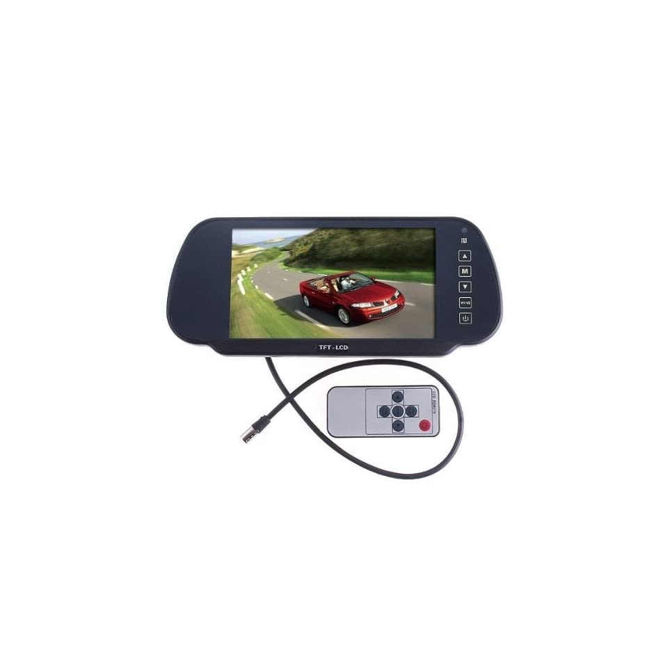 7 Color TFT LCD Car Rearview Monitor for Camera car DVD VCR,Car monitor,car video,