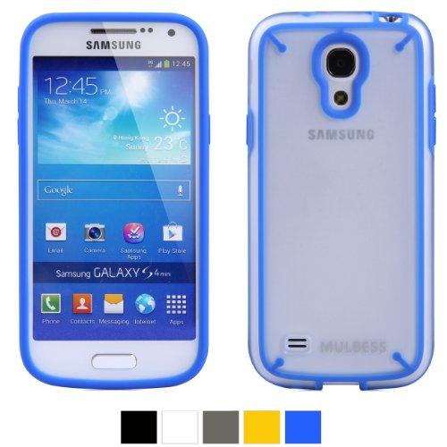 Mulbess® Samsung Galaxy S4 Mini I9190 DUAL TPU Hardcase Hülle Schutzhülle (Blau/löschen)