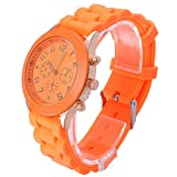 OFTEN® Popular Silicone Quartz Men Women Girl Boy Unisex Jelly Wrist Watch