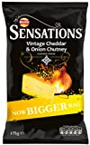 Walkers Sensations Vintage Cheddar and Chutney 175 g (Pack of 12)