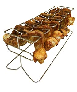 King Kooker #12WR 12-Slot Leg and Wing Grill Rack for Poultry by Metal Fusion, Inc.