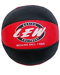 LEW Gym Rubber medicine ball with Texured surface for excellent grip- 1kgs