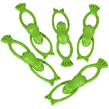 Rhode Island Novelty Stretchable Flying Slingshot Frogs, 3.5""