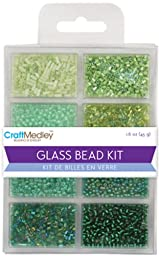 Glass Bead Kit 45Grams/Pkg-Going Green - Glass Bead Kit 45Grams/Pkg-Going Greenmulticraft Imports-Glass Bead Kit. This Kit Contains A Great Selection Of Beads That Will Work Well With Any Jewelry Mak
