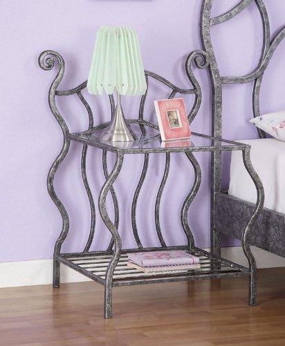 Cheap Kids Nightstand with Tempered Glass Shelf in Multicolored Finish (AZ00-46951×19446)