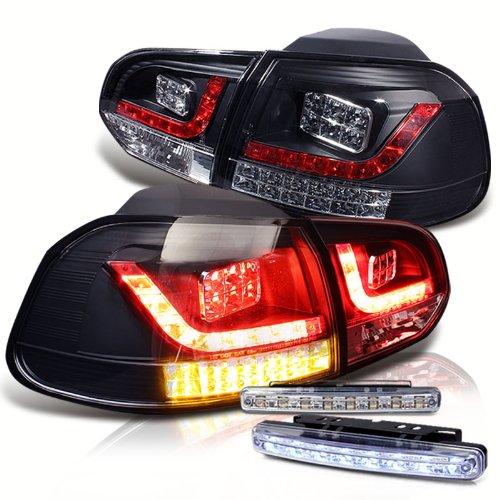 Rxmotoring 2010 2011 Volkswagen Golf Tail Lights + 8 Led Bumper Fog Lamps