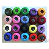 PARAG 20 PEARL COTTON #8 CROCHET THREAD 85 Meters each (Color: Assorted)