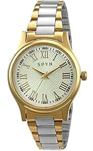 Spyn Exclusive Roman Dial golden casual wrist watch for Women