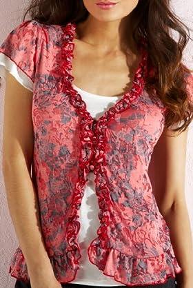 Per Una Floral Mock Layer Top [T62-0772I-S]
