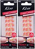"""**NEW 2013 DESIGN** 2pk Kiss 2-LOOKS Nail Dress """"TUNIC"""" Fashioned Strips for Nails **LOWEST PRICE GUARANTEED**"""