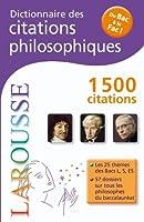 Dictionnaire des citations philosophiques - Du Bac À La Fac
