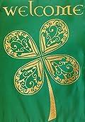 Welcome Celtic Clover Garden Flag Shamrock Irish St. Patrick's Day 12.5