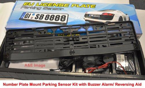 Cadre-de-plaque-dimmatriculation-avec-support-CISBO-Systme-Audio-avec-3-capteurs-Alarme-Pas-de-HolesConvient-aux-bricolage