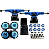 5 Truck+52mm Wheels+Bearings+Spacers+Screws+Riser Pads Set by Everland