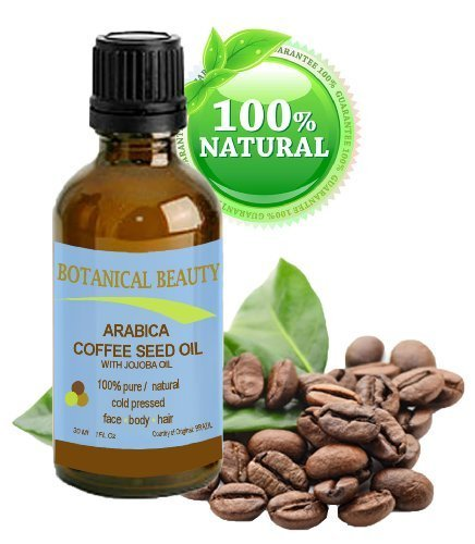 ARABICA COFFEE SEED OIL, 100% Pure/ Natural. For Face, Body And Hair. Wrinkle Reducer, Anti- Puffiness / Dark Circles, Anti Cellulite. 1 oz- 30 ml by Botanical Beauty