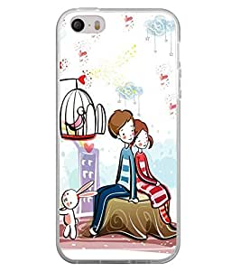 Love Couple 2D Hard Polycarbonate Designer Back Case Cover for Apple iPhone 5