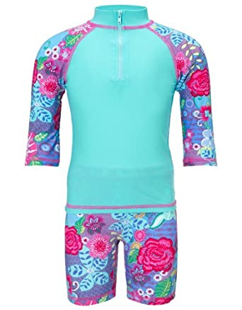 Monsoon Girls Malani Surfsuit Size 7-8 Years Blue