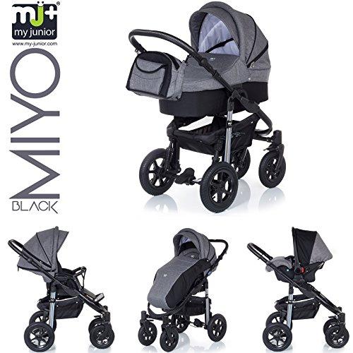 My-Junior-Miyo-Kombikinderwagen-3-in-1-3-Years-Guarantee-Autositz-11-Teile-Set