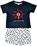 Toffyhouse Baby Boys' T-shirt and Shorts Set (TF1173.BLACK.1-3, Black, 3-6 Months)
