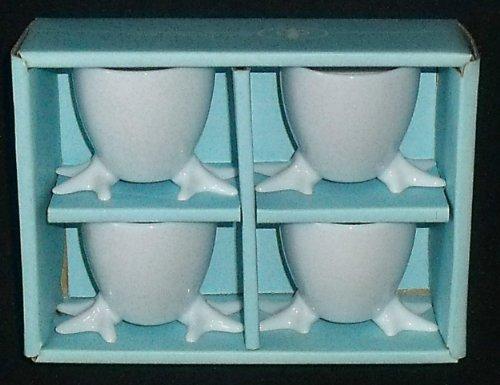 BIA Cordon Bleu Egg Cups CHICKEN FEET Set of 4 (Egg Cups Chicken Feet compare prices)