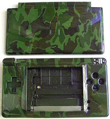 Camouflage - Nintendo DS Lite Complete Full Housing Shell Case Replacement Repair w/ Hinge Set