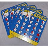 License Plate Travel Safety Bingo, Set of 4 Unique Bingo Cards, Great for Family Vacations, Car Rides, and Road Trips!