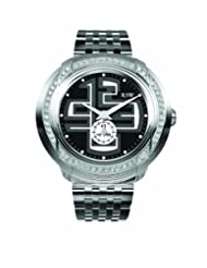 RSW Men's 9130.BS.S0.12.F1 Volante Diamond Black Dial Luminous Stainless Steel Bracelet Watch