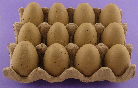 Dozen Wooden Faux Chicken Eggs (Brown Speckled)