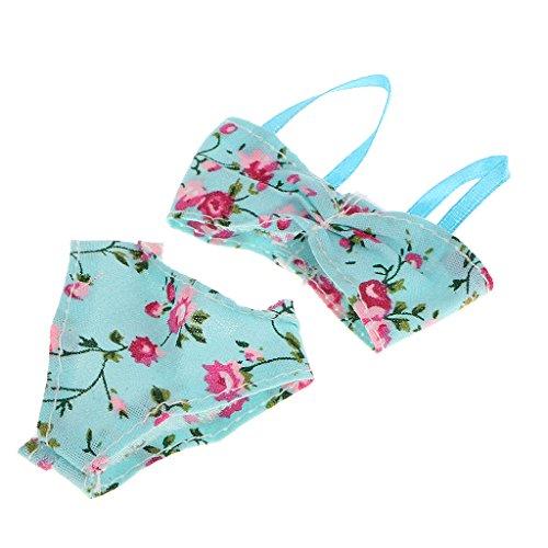 2pcs-Muecas-Fashion-Ropa-Traje-de-Bao-Bikini-Flores-para-Barbies
