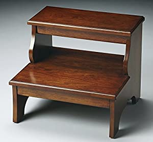Step Stool Bed Steps Chestnut Burl Finish Accent Furniture