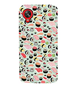 Food Pattern 3D Hard Polycarbonate Designer Back Case Cover for LG Nexus 5 :: LG Google Nexus 5