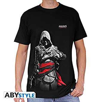 Amazon.com: AbyStyle - T-Shirt - Assassin's Creed - Edward Black