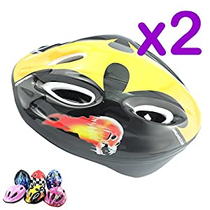 Adjustable Kids Bike/Bicycle Safety Helmets In 6 Assorted Colour - For 2-13 Years Kids
