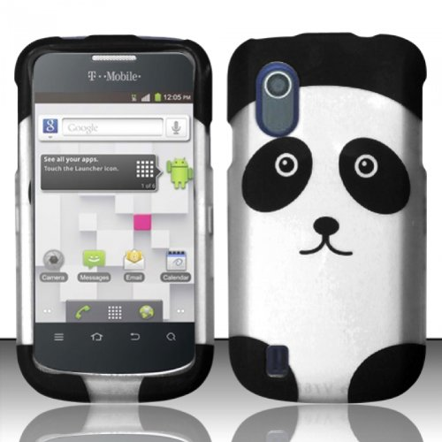 For ZTE Concord V768 (T-Mobile) Rubberized Design Cover Case - Panda